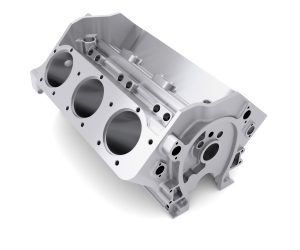 A V-6 aluminum engine block