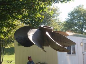 5,400 kg Ni-Al-Bronze propeller from a Canadian warship